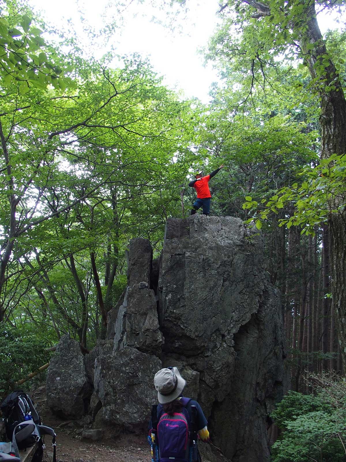 棒ノ折山(棒ノ嶺)へ犬連れマイカー登山<さわらびの湯~棒ノ折山~さわらびの湯>30