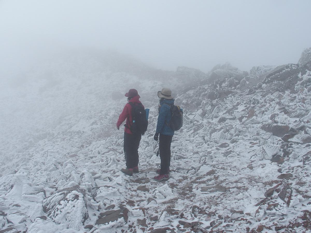 雪と風、紅葉登山をなめてました<11月はじめの那須岳>6