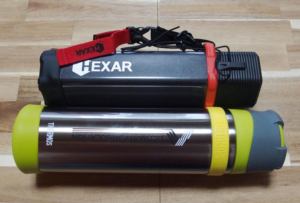 シンプルな「山専ボトル」とギア感が半端ない「HEXAR(ヘキサー) ステンレスボトル」1
