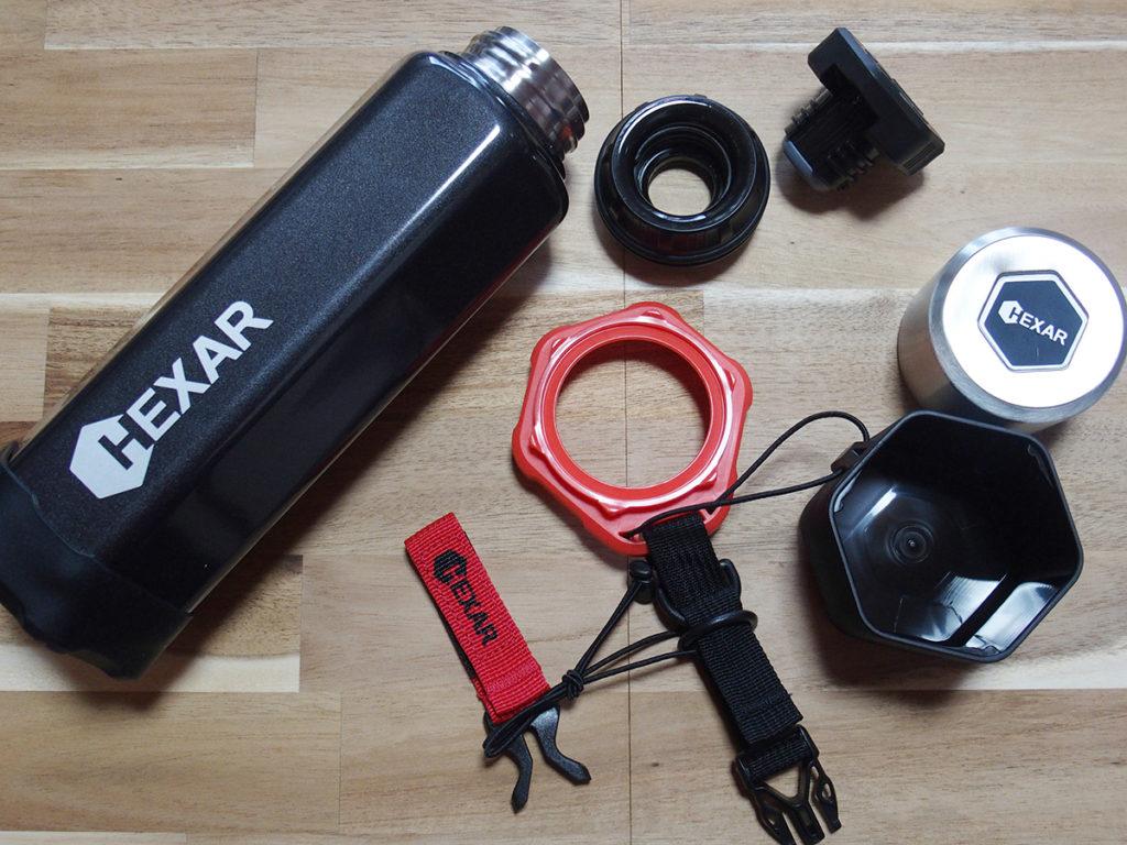 シンプルな「山専ボトル」とギア感が半端ない「HEXAR(ヘキサー) ステンレスボトル」5