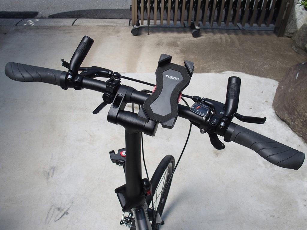 ターン(Tern) Verge (ヴァージュ)のハンドルが広すぎるので両端カット<自転車のハンドル幅はどのくらい?>4