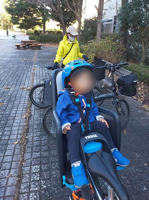 スポーツバイク(クロスバイク)・折り畳み自転車にチャイルドシートを取り付け<THULE(スーリー) Ride Along >11 ジャイアント グラビエ
