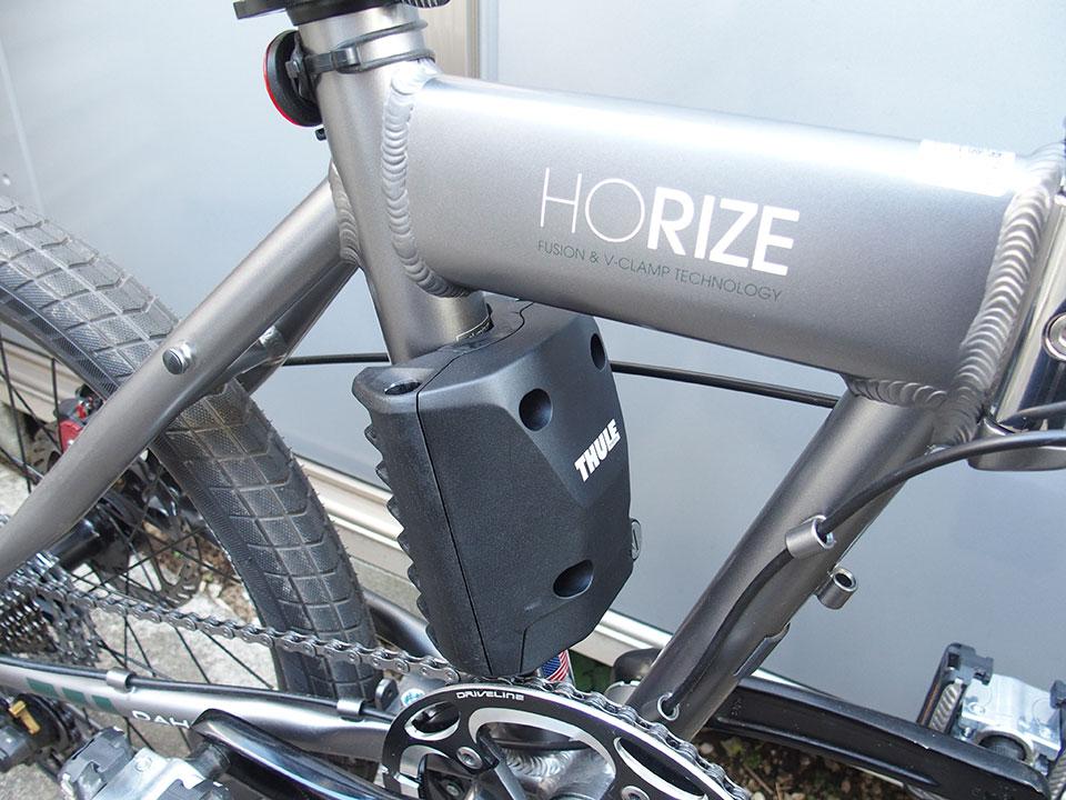 スポーツバイク(クロスバイク)・折り畳み自転車にチャイルドシートを取り付け<THULE(スーリー) Ride Along >2DAHON Horize (ダホン ホライズ)