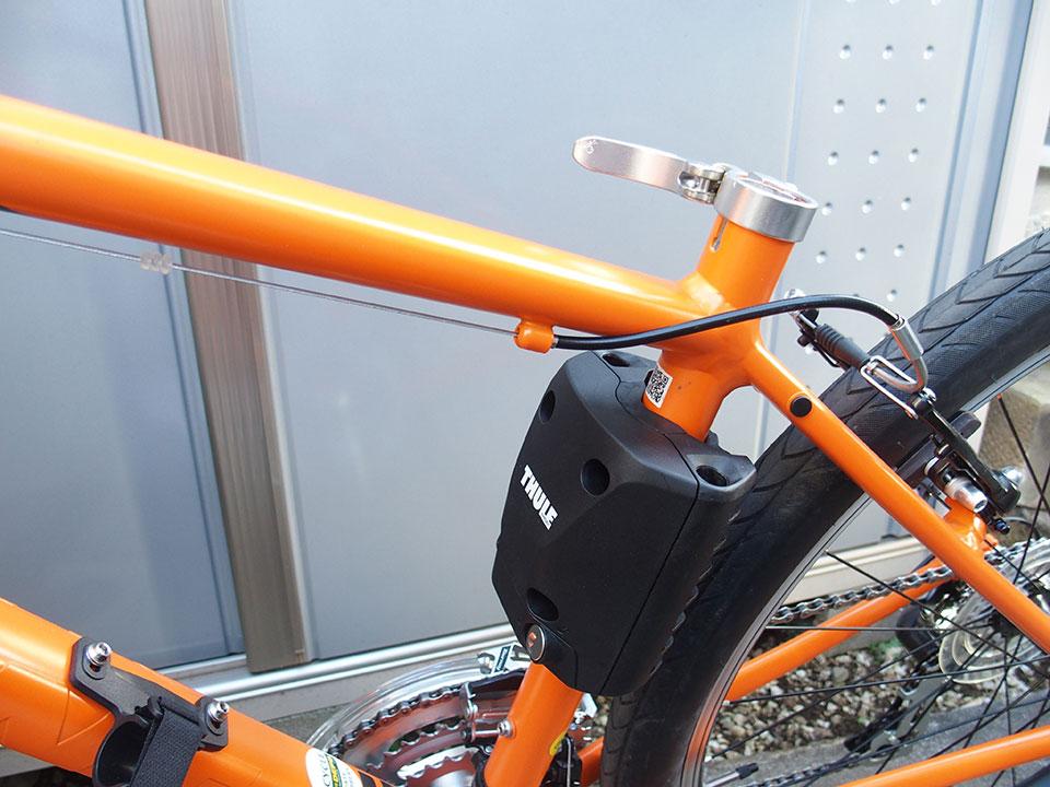 スポーツバイク(クロスバイク)・折り畳み自転車にチャイルドシートを取り付け<THULE(スーリー) Ride Along >4 ジャイアント グラビエ