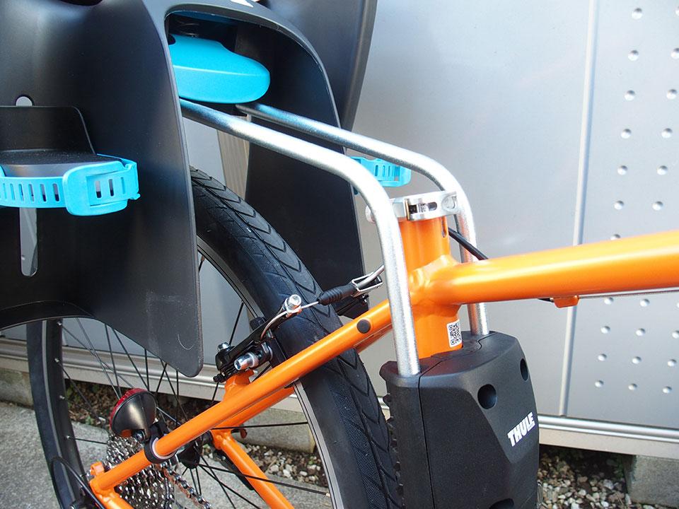 スポーツバイク(クロスバイク)・折り畳み自転車にチャイルドシートを取り付け<THULE(スーリー) Ride Along >6 ジャイアント グラビエ