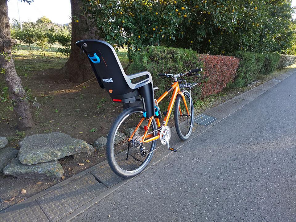 スポーツバイク(クロスバイク)・折り畳み自転車にチャイルドシートを取り付け<THULE(スーリー) Ride Along >8 ジャイアント グラビエ