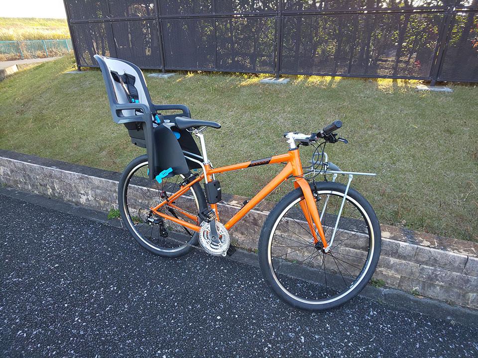 スポーツバイク(クロスバイク)・折り畳み自転車にチャイルドシートを取り付け<THULE(スーリー) Ride Along >9 ジャイアント グラビエ